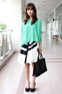 Black-furla-bag-black-shoes-summer-aldo-wedges-white-reiss-skirt
