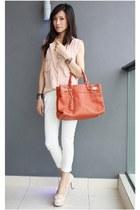 neutral sleeveless Mood & Closet top