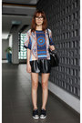 Black-christian-dior-bag-black-mood-closet-shorts-navy-miu-miu-sneakers