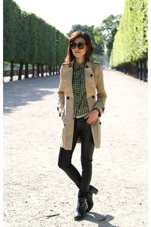 trench coat Burberry coat - Fendi boots - black citizens of humanity jeans
