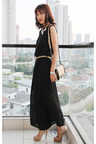eggshell Chanel bag - black chiffon summer Mood & Closet jumper