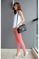 black leather ps11 PROENZA SCHOULER bag - salmon 7 for all mankind jeans