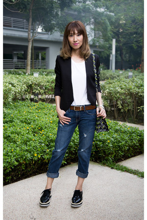 jacket BB Dakota blazer - Prada shoes - denim Current Elliott jeans
