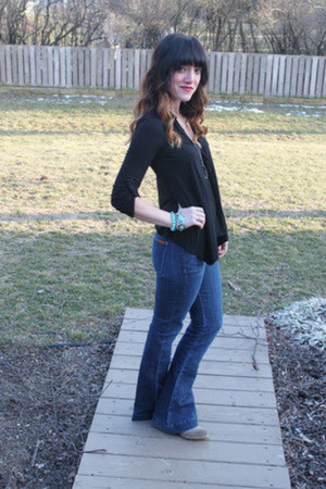 Dolce Vita boots - 7 for all mankind jeans - Nordstrom blouse - axapple necklace