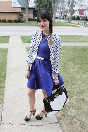 Victorias Secret blouse - asos dress - just fab bag - just fab heels