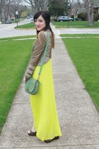 Victorias Secret dress - Express jacket - Fossil bag - Forever 21 wedges