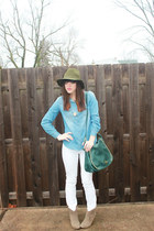 just fab bag - Dolce Vita boots - Level 99 jeans - shop frankies hat