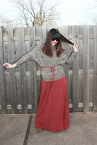 just fab boots - maxi dress Victorias Secret dress - MNG by Mango sweater