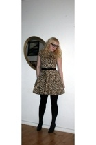 asos dress - vagabond shoes - Urban Outfitters glasses