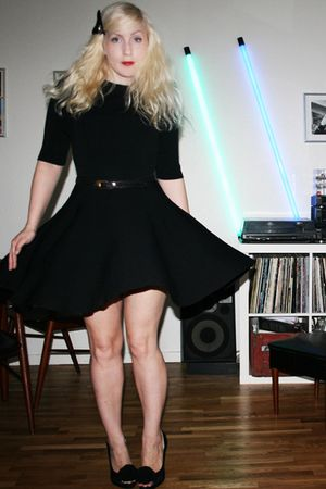 black COS dress - asos shoes - H&M accessories - vintage belt