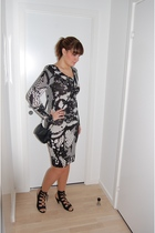 white H&M dress - black Bianco shoes - black Dixie accessories