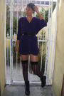 Purple-2nd-hand-store-dress-black-mr-price-boots-black-stay-ups-from-adult-w
