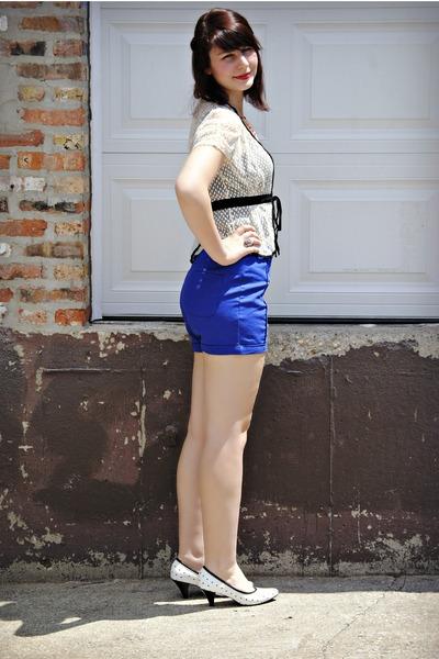 shorts - lace cardigan cardigan - star heels TUK heels