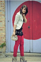 red jeans Urban Outfitters jeans - white blazer Urban Outfitters blazer