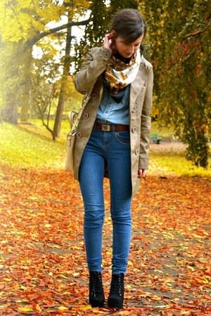 Bershka jeans - Orsay shirt - OASAP bag