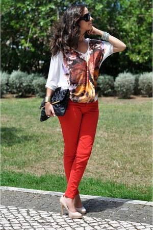 Bershka blouse - Zara jeans - Primark bag - Aldo pumps