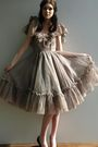 Beige-vintage-from-ebay-dress