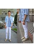 silver plain H&M t-shirt - beige espadrilles Accessorize shoes
