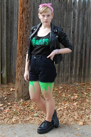 lime green latex URB Clothing tights