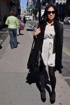 black rezrekshn jacket - white UO dress - gold house of harlow necklace - black