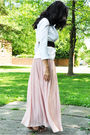 White-vintage-blazer-pink-vintage-skirt-brown-bcbg-belt-brown-zara-shoes