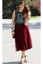 In My Air skirt - Zara purse - Steve Madden sandals - ChaserBrand t-shirt