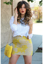 Zara skirt - Rebecca Minkoff bag - Zara top