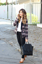 black 1 state blazer - black J Brand jeans - white Topshop shirt