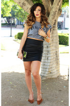 Sole Society pumps - Forever21 skirt - Zara top