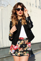 white Urban Philosophy t-shirt - black Charlotte Russe jacket