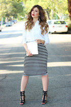 Swell skirt - Zara bag - Topshop top - Charlotte Russe sandals