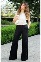 Topshop top - Zara purse - Guess romper
