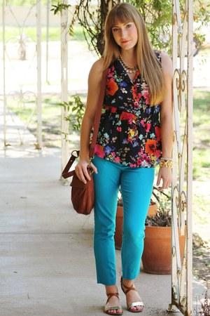 Target pants - Fossil purse - Target blouse - JCrew necklace