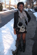 black yesstylecom dress - black Zara boots