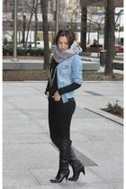 H&M scarf - H&M jeans - H&M shirt - Guess boots - Miu Miu purse