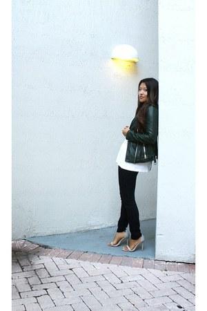 white tank loose Zara shirt - white Zara shoes