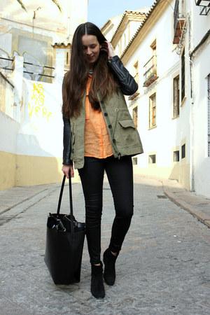 Zara jacket - Mango boots - Zara shirt - Zara bag - Zara pants
