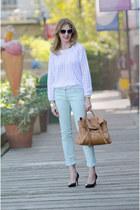 SANDRO pants - American Apparel sweater - Mulberry bag