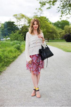 Zara heels - free people sweater
