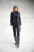 Celine boots - Topshop leggings - Mexx blazer