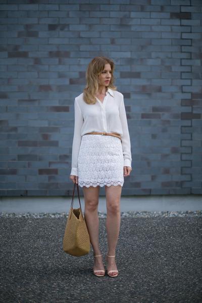 Zara heels - Zara skirt - Zara blouse