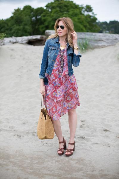 free people dress - H&M jacket - JCrew bag