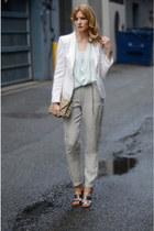 Topshop pants - Aritzia top - sam edelman sandals