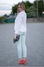 Sandro-pants-zara-blazer-theory-blouse-carven-pumps