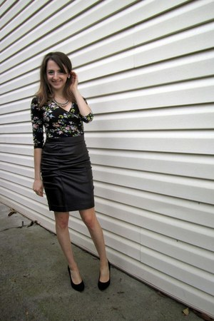 black PERSUNMALL dress - black Topshop skirt - silver Aldo necklace