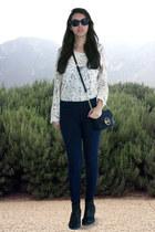 ivory sammydress blouse - black BLANCO boots - navy BLANCO jeans