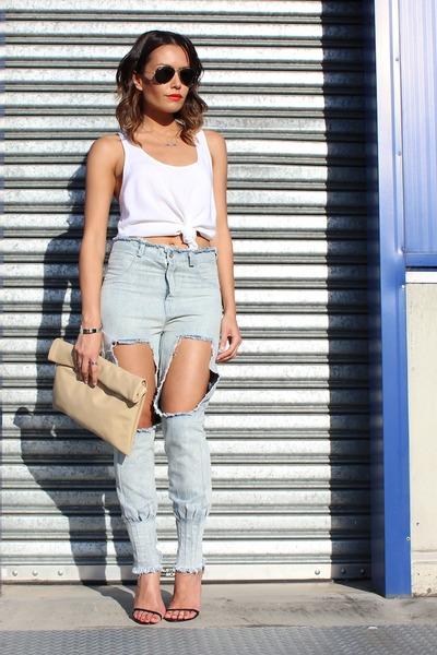 jagger jeans Evan-Evina jeans - roll clutch Evan-Evina bag
