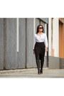 Black-boots-boots-white-target-shirt-black-wrap-skirt-target-skirt
