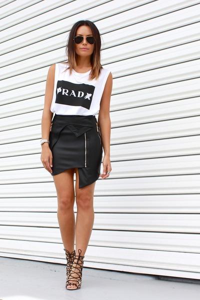 biker skirt Premonition Designs skirt - rad tank Elliott Label top