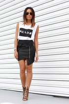 biker skirt Premonition Designs skirt - rad tank Elliott Label top